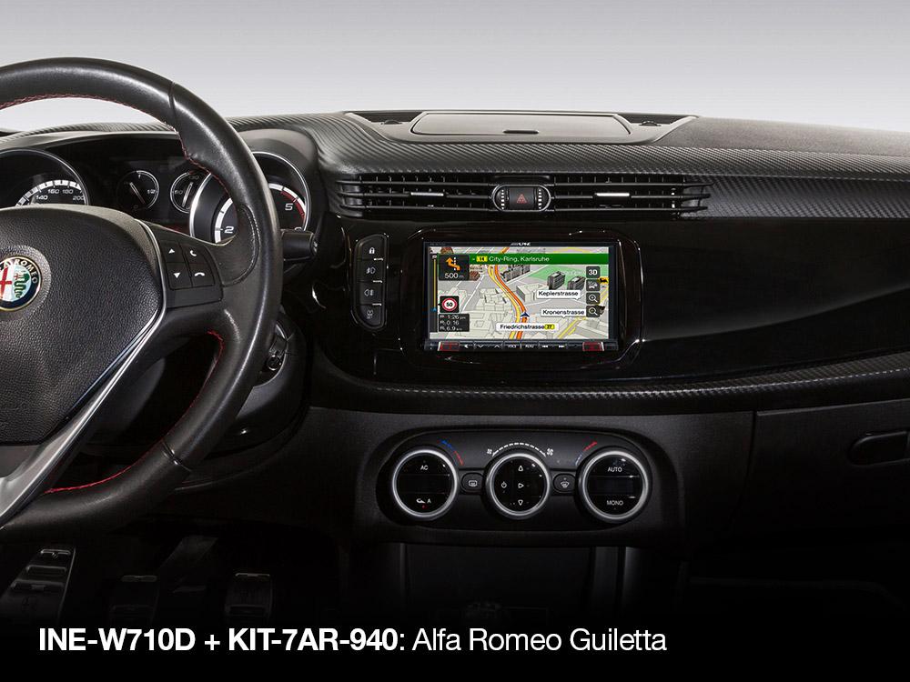 7 inch installation kit for alfa romeo giulietta (type 940) from 2013- and  newer - alpine - kit-7ar-940