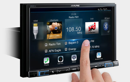 High Resolution WVGA Touch Screen  - X802D-UA