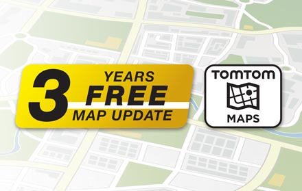 TomTom Maps with 3 Years Free-of-charge updates - X802D-UA