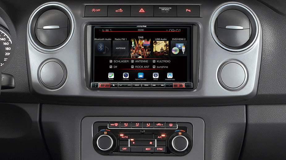 X802D-UA Navigation System in VW Amarok with DAB Radio Bluetooth DVD