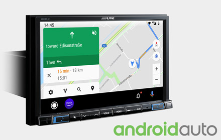 Online Navigation with Android Auto - X803D-U