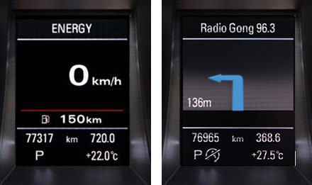 Audi A4 - X702D-A4: Driver Information Display